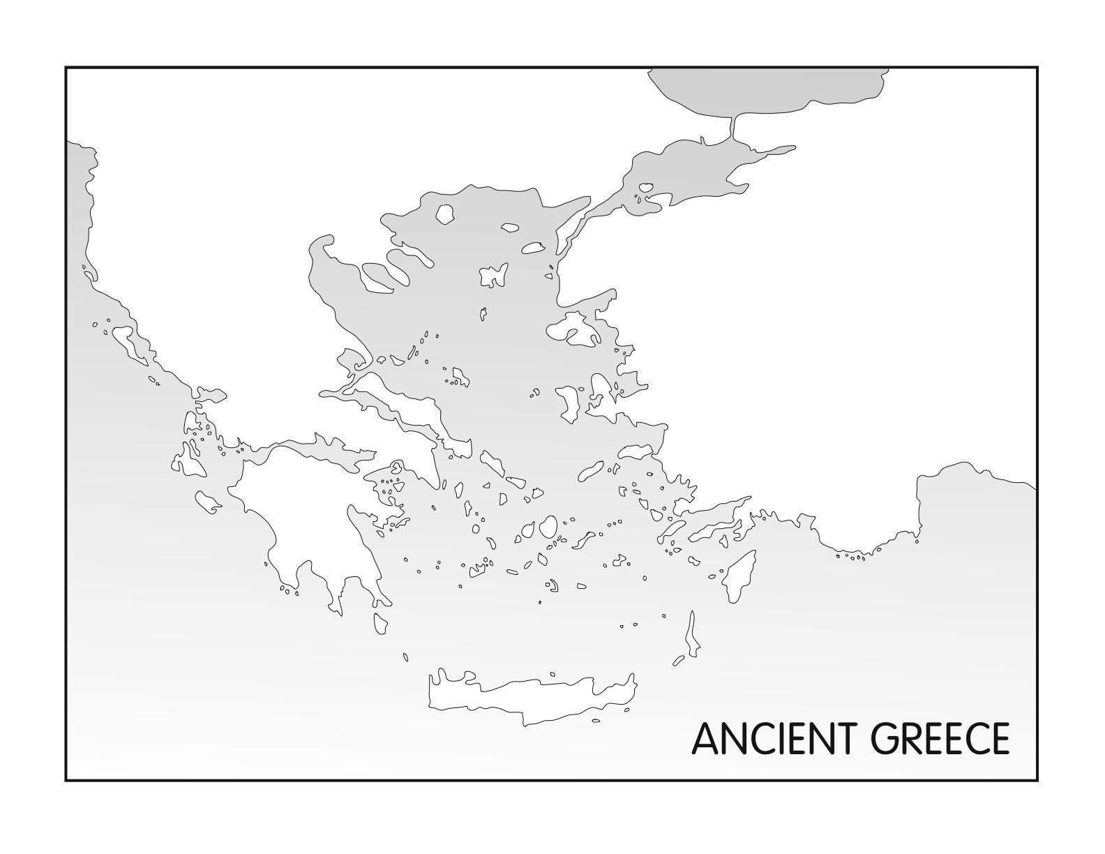 Slepa Mapa Staroveke Recko Staroveke Recko Prazdne Mape Jizni