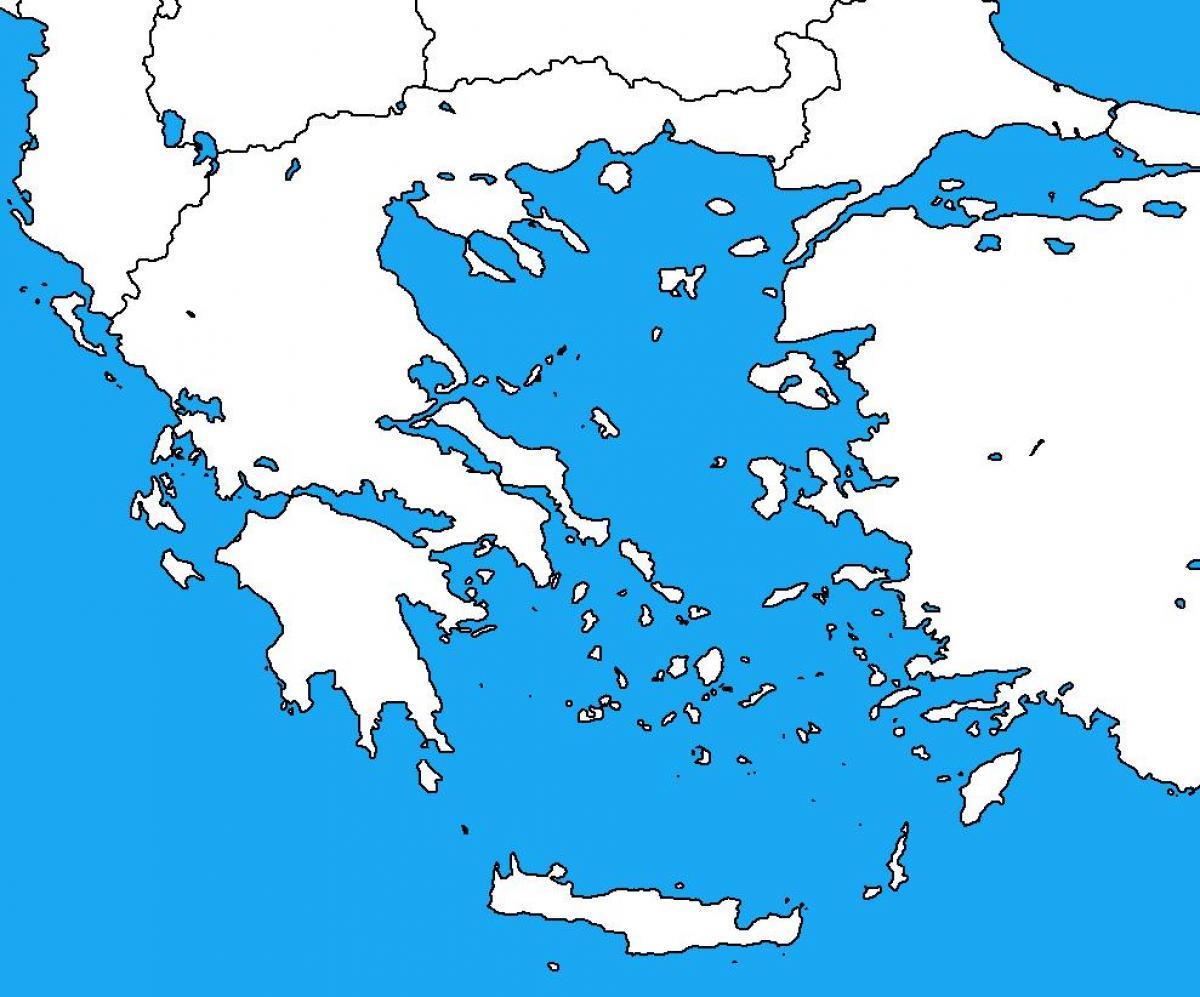 Hellas Slepa Mapa Mapa Recko Prazdne Jizni Evropa Evropa