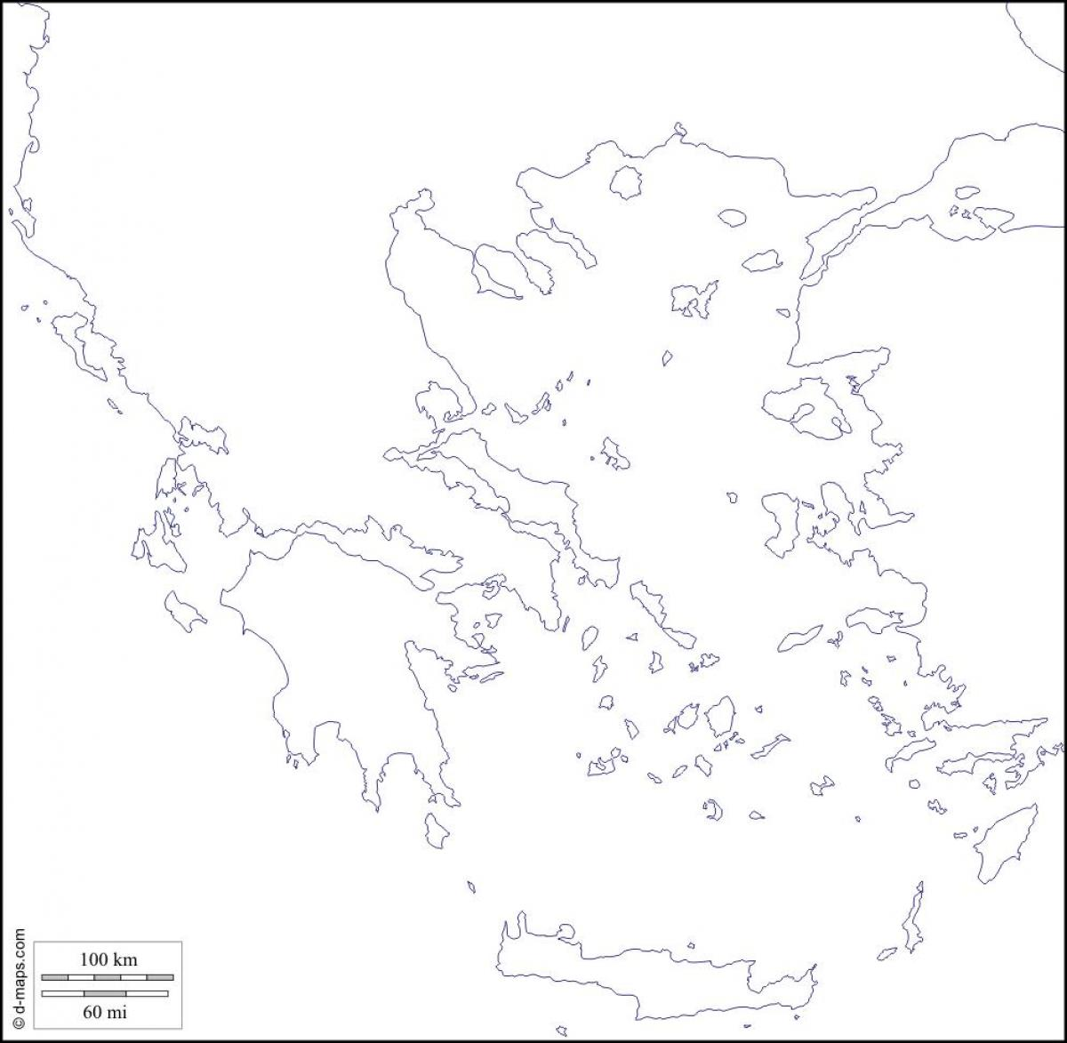 Slepa Mapa Recko Recko Prazdne Mape Jizni Evropa Evropa