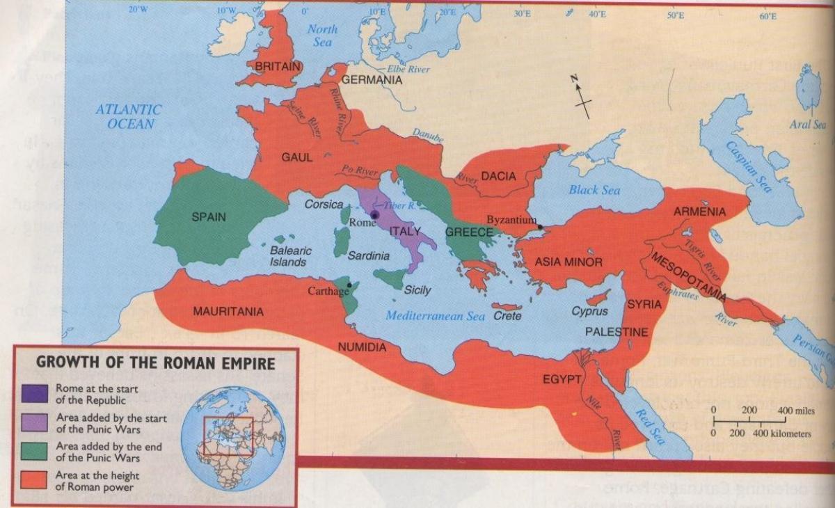 Staroveky Rim A Recko Mapa Mapa Starovekeho Recka A Rima Jizni